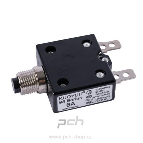 Tepelný jistič 250V/6A